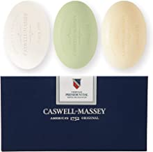 Caswell-Massey Triple Milled Luxury Bath Soap Presidential Collection – 3 Assorted Fragrances - 5.8 Ounces Each, 3 Bars