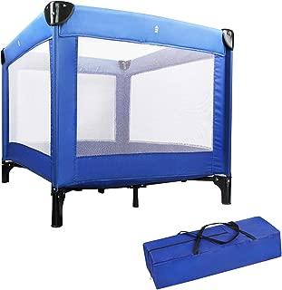 Baby Laufstall Babyreisebett tragbar und klappbar Blau Sotech Reisebett Baby CE-Standard Kinder Reisebett 125 x 65 x 76 cm