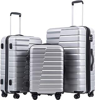 COOLIFE چمدان قابل انعطاف PC ABS TSA Lock Spinner حمل مد جدید (نقره ای ، ست 3 تکه)