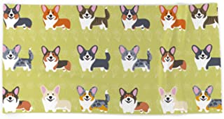 Society6 Beach Towel, Pembrokes and Cardigans - Corgis by Lili Chin, Microfiber Polyester