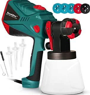 Scuddles Paint Sprayer, 1200 Watt High Power HVLP Home and Outdoors Includes 5 Nozzle,..