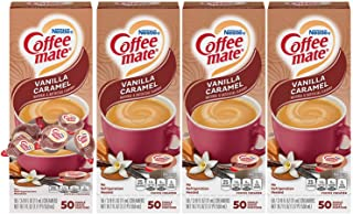 Nestle Coffee mate Coffee Creamer, Vanilla Caramel, Liquid Creamer Singles, Box of 50 Singles