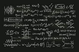Quantum Physics Formula Blackboard Illustration Cool Wall Decor Art Print Poster 36x24