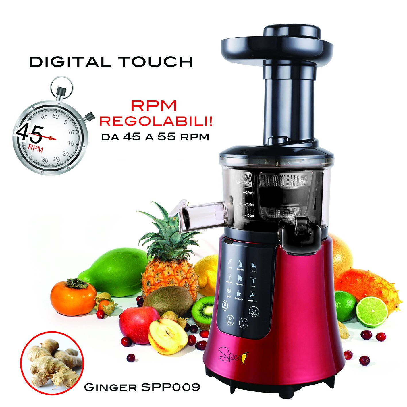 Spice Ginger - Licuadora de Zumo con Control Digital de la ...