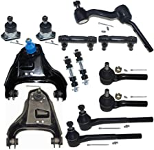 DLZ 13Pcs Front Suspension Kit-Upper Control Arm Upper Ball Joint Inner Outer Tie Rod End Adjusting Sleeve Sway Bar Idler Arm Compatible with Chevy Blazer 99-01 Replacement for GMC Jimmy 98-02 K620173
