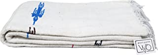 white mexican blanket