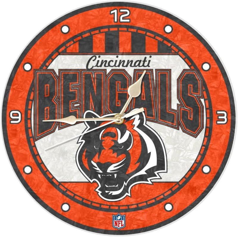 Cincinnati Bengals 12 Inch Manufacturer regenerated product Art High quality new Clock Glass