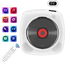 Portable CD Player with Bluetooth, Wall Mountable CD Music Player Home Audio Boombox with..