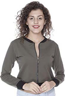 JUNEBERRY 100% Cotton Olive Jacket for Women/Girls