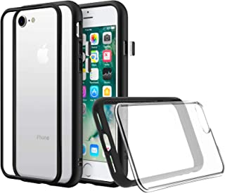 RhinoShield Modular Case for iPhone 8/7 [Mod NX] | Customizable Shock Absorbent Heavy Duty Protective Cover - Compatible w/Wireless Charging & Lenses - Shockproof Black Bumper w/Clear Back