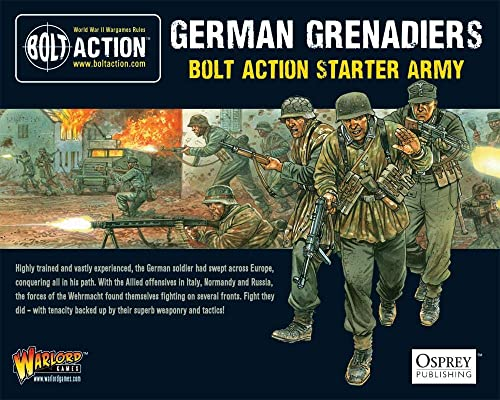 Bolt Action German Grünadiers Starter Army 1 56 WWII Military Wargaming Plastic Model Kits