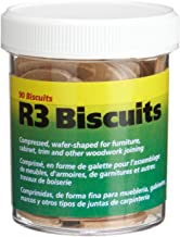 wolfcraft 2995404 Compressed Wafer Shaped Wood Joining Biscuits for Joining Wood Pieces,..