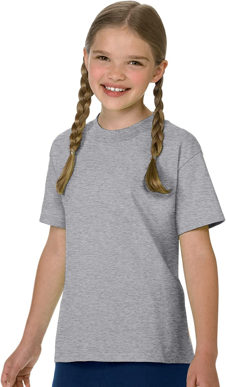 Hanes Children's Tagless T-Shirt (6 Pack),Oxford Grey,S US