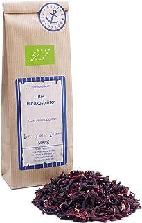 Bio Hibiskus 500g ganze getrocknete Hibiskusblüten - Früchtetee - wird auch als Karade Malve Roselle Flor de Jamaica bezeichnet