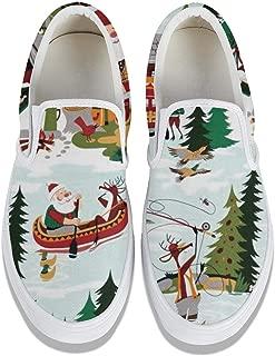 Unicorns Farting Christmas Time Santa Mountain Lake-01 Men's Canvas Shoes Fashion Lightweight Walking Shoes Slip-on Sneakers