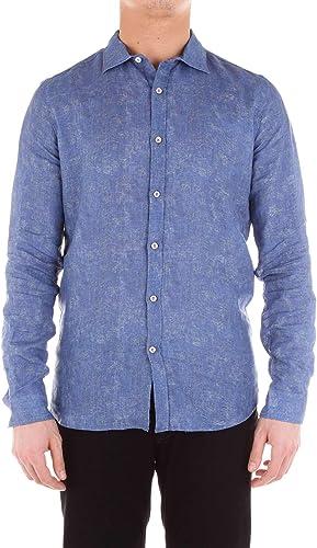 DIKTAT Homme 59415bleu Bleu Coton Chemise