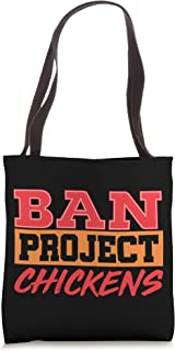 Ban Chickens Scrum Agile Project Management Funny PM Coach Tote Bag