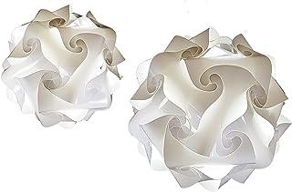 Paire de abat jour design Modèle FIOCCO 23 cm Lampe sphère blanche Minimal design - Expédié monté: 3 couches de matériaux ...