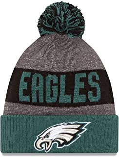 New Era Youth Authentic Philadelphia Eagles NFL Football Beanie Hats 2016 Official Sideline On Field Junior Sport Knit Cap Team Color Unisex for Boys & Girls