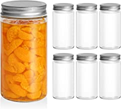 ComSaf Mason Jars with Airtight Metal Regular Lids(16oz/500ml), Sealed Clear Glass Canning Jars with Wide Mouth for Spice...