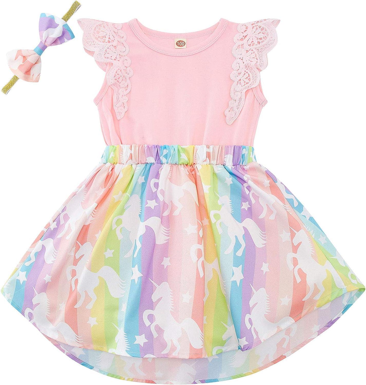 Baby Girls Floral Selling and selling Romper Dress Mermaid Brand new Flutter Unicorn Dinosaur