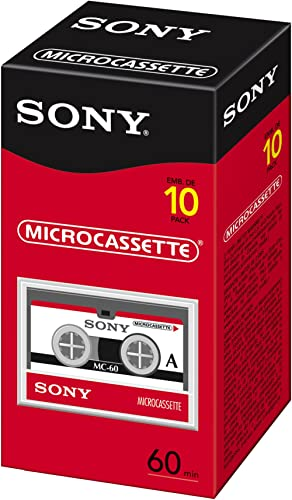 Sony 60 Minute Micro Cassette 10-Pack (Discontinued by Manufacturer)