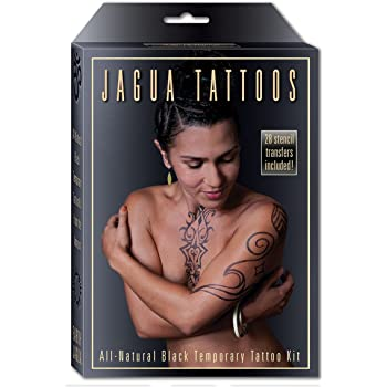 Organic Jagua Black Temporary Tattoo and Body Painting Kit. Safe for Children and Made in the USA. Enough Jagua Gel for 12-15 Designs and Applications Last 1-2 Weeks