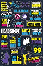 GB Eye Limited Battle Royale Infographic Video Gaming Gamer Cool Wall Decor Art Print Poster 24x36 inch