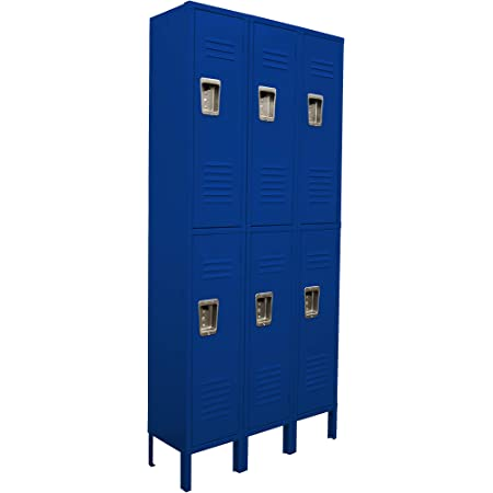 Q61215721-101 6 Tier 1 Wide Corridor Locker with 6 Openings 12W x 15D x 78H Khaki Unassembled
