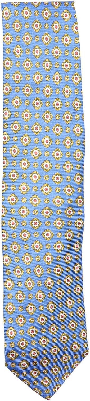 Bigi Cravatte-Milano Men's Silk Grosgrain Flower Print Necktie