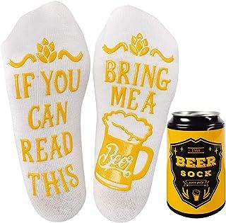 Voqeen, – Calcetines de cerveza para mujer y hombre, diseño con texto en alemán
