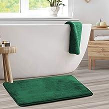 Bath Mat Bathroom Rug - Absorbent Memory Foam Bath Rugs - Non-Slip, Thick, Velvet Feel Microfiber Bathrug, Plush Shower, T...