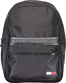 TOMMY HILFIGER Men's Sport Mix Backpack, Black