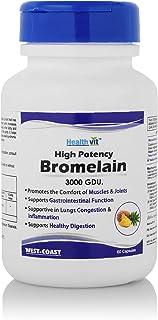 Healthvit High Potency Bromelain 3000 GDU 500 Mg Capsules - 60 Count