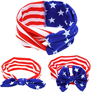 Baby Toddler Headband Stripe Stars Hair Band Accessories Headwear for 4th of July TS05