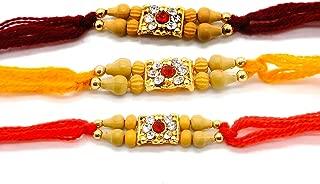 Set of Three Rakhi thread, Raksha bandhan Gift for your Brother, Yellow, Orange and Pink Color