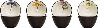 Noritake Colorwave Floral Bowl, 4-Inch, Chocolate, Set of 4