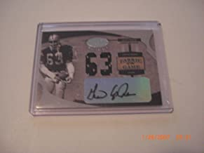 Gene Upshaw 2005 Leaf Fabric Of The Game Used Dual Jersey Auto 06/63 Signed Card - NFL Autographed Football Cards