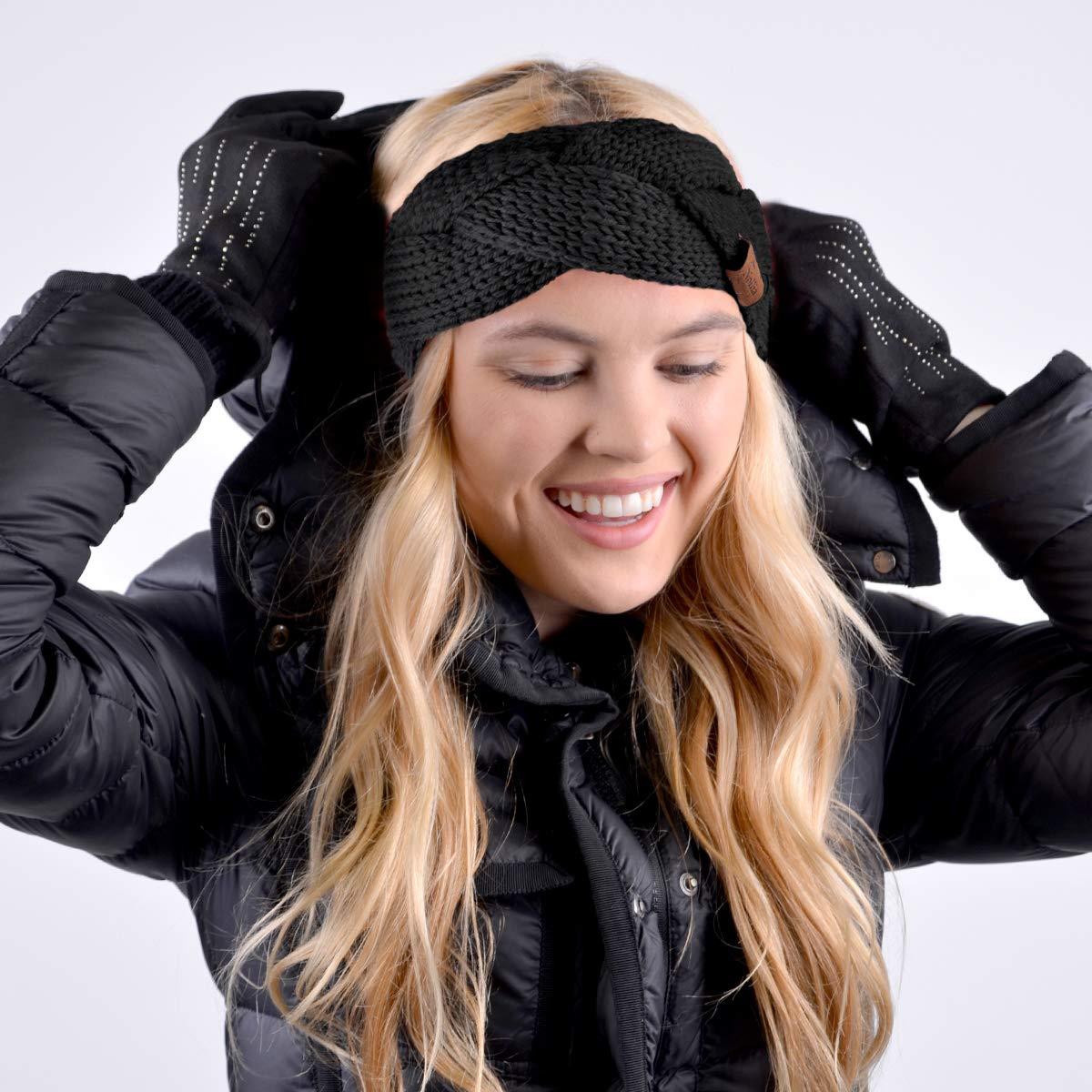 Nollia Braided Knit Winter Head Band Ear Muff Head Wrap Warmer for Women