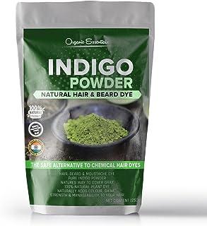 Organic Essentials Indigo Powder For Hair & Beard Dye - Black (250 Grams)