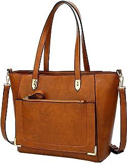 TOOGOO Satchel Travel Purses and Handbags for Women Shoulder Tote Bags,Brown