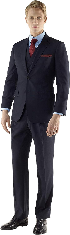 Dark Navy Luxury 120's Wool - Custom Three-Piece Men's Suit by MyCustomTailor