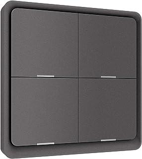 Tuya Smart ZigBee Button Switch Panel, Wireless Free Sticker 4-way Panel, Scene Wall Switch Battery Powered Automation Scenario for Tuya Devices, Smart Home Zigbee Gateway