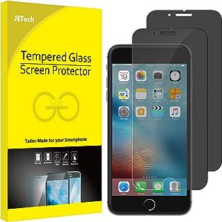 JETech Protector de Pantalla para Apple iPhone 8 y iPhone 7, Privacidad Funciona, Vidrio Templado, 2 Unidades