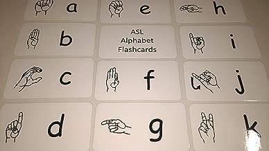 26 ASL Alphabet Flashcards.