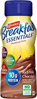 Carnation Breakfast Essentials Ready-to-Drink, Rich Milk Chocolate, 8 Ounce Bottle (Pack of 24) (Packaging May Vary)