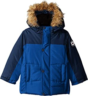 Baby Boys' Bubble Jacket with Faux Fur Hood