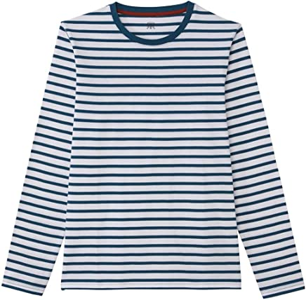 43825283380ed9 La Redoute Collections Mens Breton Striped Long-Sleeved Cotton T-Shirt