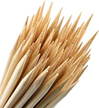 Bamboo Marshmallow Roasting Sticks - With Storage Bag-5mm Thick Extra Long Heavy Duty Wooden Hot Dog Smores Sticks Shish Kabob Skewers Fire Pit Campfire Cooking Kids, 36