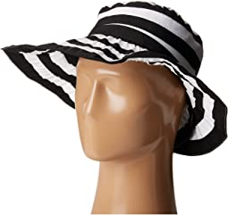 RBL4792 Crossback Striped Ribbon Hat